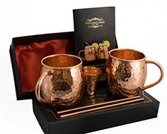 Figo Inc Handmade Pure Copper Hammered Moscow Mule Mug Best Moscow Mule, Famous Drinks, Copper Cups, Copper Moscow Mule Mugs, Handmade Copper, Special Recipes, Pure Copper, Oil And Gas, Beautiful Gift Boxes
