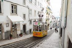 Places to go in Lisbon - via All the places you will go 03.05.2016 | Lisbon you can find several bairros (neighborhoods) with historic streets, buildings and architectural landmarks. When you visit Lisbon we recommend you to just walk through these bairros. Two of our favorite bairros are Bairro Alto and Alfama. Photo: Yellow tram in Lisbon, Portugal