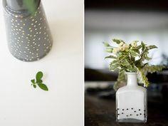 DIY Confetti Flower Bottles.
