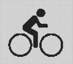 (10) Name: 'Embroidery : Bicycle 2 Cross Stitch Pattern