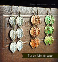 "Earrings Everyday ""Leaf Me Alone"" earrings by Erin Prais-Hintz"