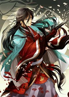 Izuminokami Kanesada - Touken Ranbu Touken Ranbu, Manga, Anime Demon Boy, Cool Anime Guys, Anime Boys, Wolf Artwork, Cool Swords, Susanoo, Roman