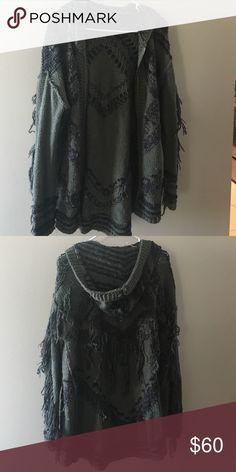 Free People cardigan sweater Free People cardigan sweater with zipper and hood Free People Sweaters Cardigans