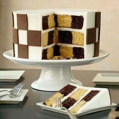 Chessboard cake