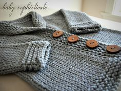 It's been a while since I've last posted…come take a peek at this sweet little baby sophisticate sweater!