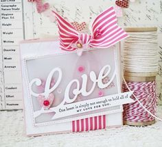 One Heart Card by Melissa Phillips for Papertrey Ink (December 2013)