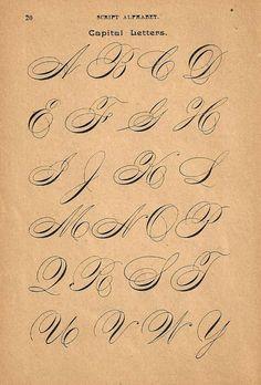 années 1890 revers calligraphie imprimer Page majuscules