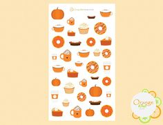 Pumpkin Spice Latte, All Design, Planner Stickers, Kiwi, Addiction, It Is Finished, Messages, Make It Yourself, Orange