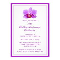 This DealsElegant Purple Orchid 50th Wedding Anniversary Invitationstoday price drop and special promotion. Get The best buy