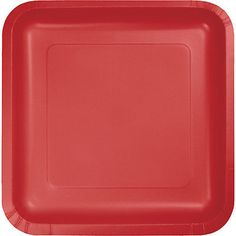 """18 Classic Red Wedding Birthday Party Tableware 7"""" Square Paper Dessert Plates"""