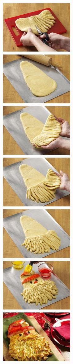 Santa Bread……réepinglé par Maurie Daboux ༺༻⊰✿