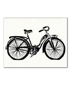 Another great find on #zulily! Bike Print #zulilyfinds