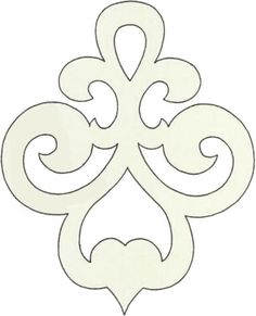 Scroll saw pattern ornament Stencil Patterns, Stencil Designs, Applique Patterns, Cross Patterns, Wood Patterns, Stencils, Motif Art Deco, Bordados E Cia, Scroll Saw Patterns Free