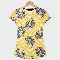 Discover «Geometries & Blue Palms», Exclusive Edition Women's All Over T-Shirt by DesigndN - From 41€ - Curioos