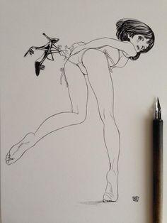 博/ゆめくり3巻発売中 @siiteiebahiro  7月10日 ハイヒールをぶら下げて振り向く白い水着姿の女の子 pic.twitter.com/n5cMyYgDSM CJhtv-mUcAAH0MV.jpg:large (768×1024)