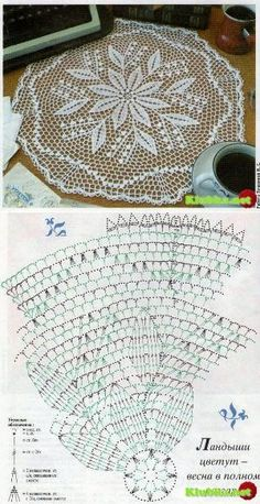 Kira scheme crochet: Scheme crochet no. Crochet Doily Diagram, Crochet Doily Patterns, Thread Crochet, Filet Crochet, Crochet Motif, Crochet Stitches, Knit Crochet, Crochet Home, Love Crochet