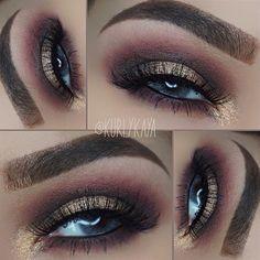 gold + burgundy with a deep smokey crease @kurlykaya   #eye #makeup