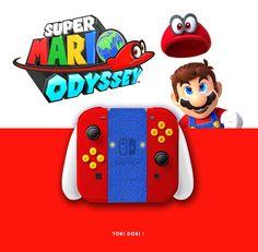 Nintendo Super Mario Odyssey, Collector edition. joycon, nintendo switch, dock, joy-con