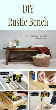 Easy to Make Rustic Bench