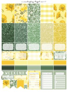 Counting Sheepy: Free Planner Printables - Hello Sunflower