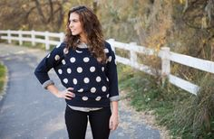 SAME DAY SHIPPING! Polka Dot Sweater 49% off at Groopdealz  18.99 Sweater with big dots are in!!!