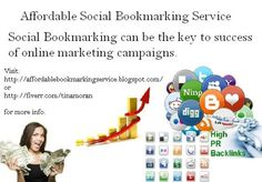 Get your site place in the #1 spot with this Affordable Bookmarking Service | 100% Manual Social Bookmarking Service for only $5 - fiverr.com/tinamoran