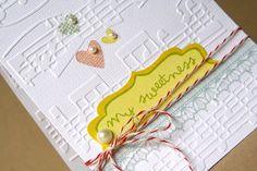 music sheet embossing, love it!   Cards embossed/window die cut   Pin ...