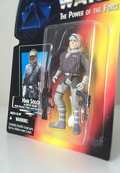 Star Wars Figure Han Solo Hoth Gear - Vintage Star Wars 1995 Power of the Force Toy Line - Empire Strikes Back