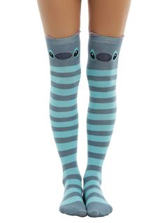 Disney Lilo & Stitch Stripe Stitch Over-The-Knee Socks,
