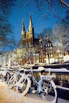 Winter Season in Amsterdam, Night, 2010