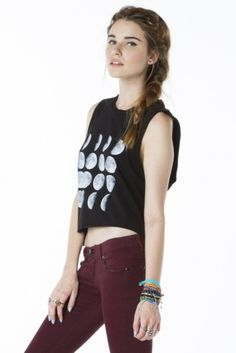 Brandy ♥ Melville | Sadie Moon Tank - Graphic Tops - Clothing