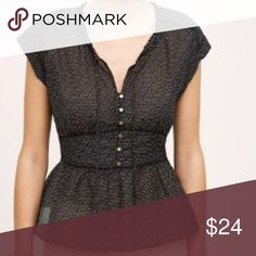 Anthropologie HD in Paris top EUC.  Worn only once!  Great with jeans or skinny black pants.  Slightly sheer with side zipper. Anthropologie Tops Blouses