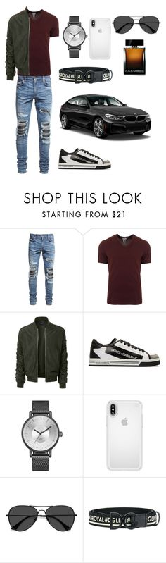"""""""Untitled #42"""" by mariadia2013 ❤ liked on Polyvore featuring AMIRI, Dolce&Gabbana, LE3NO, Speck, EyeBuyDirect.com, BMW, men's fashion and menswear"""