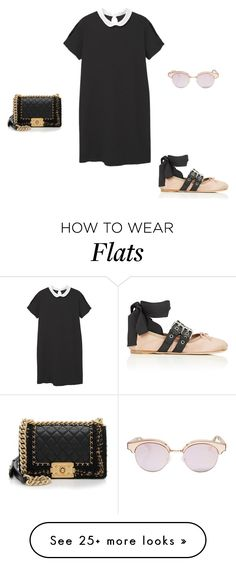 """""""Untitled #10318"""" by explorer-14576312872 on Polyvore featuring MANGO, Chanel, Miu Miu and Le Specs"""