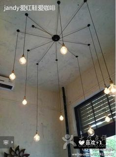 Edison light bulb retro cafe restaurant bar bull spider chandelier lamp office creative Tiannvsanhua on Aliexpress.com | Alibaba Group