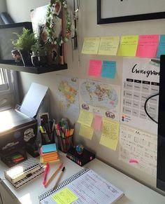 Study Room Decor, Study Rooms, Study Areas, Study Space, Study Desk, Work Desk, Study Corner, Study Organization, School Study Tips