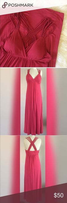 Maxi dress..  summer ready Beautiful coral maxi dress with beautiful design on the back,.. This is such a great summer dress, you can dress it up or down, wear to any event or just the park perfect super soft 100% Rayon  ✅Bundle and save  ✅ ✅ all reasonable offers will be considered No Trading  Poshmark rules only‼️ Measurements taken laying flat Ⓜ️ waist 16  Ⓜ️️️ length 41 from under bust  Ⓜ️ chest can stretch up to 44 Boutique  Dresses Maxi