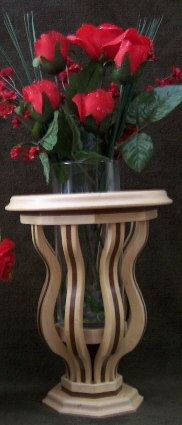 Handcrafted wooden candle/vase holder by Purrwoof on Etsy, $150.00