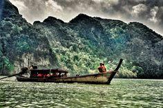Thailand Phuket longtail boat by cernimartina