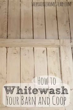 How to white wash coop and barn areas. Whitewash: cups hydrated lime* (mason's) 2 cups salt 1 gallon of water Keeping Chickens, Raising Chickens, Raising Ducks, Do It Yourself Inspiration, Building A Chicken Coop, Mini Farm, Down On The Farm, Hobby Farms, Chickens Backyard