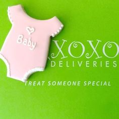 XOXO Deliveries New Baby Cookie Collection.  See our website to order these beautiful cookies. XOXO Deliveries features artisan decorated cookies for all of life's special moments. Celebrate life's moments.  Personalize our artisan decorate cookies for every occasion.