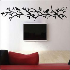 branch with birds wall decal trendy wall designs