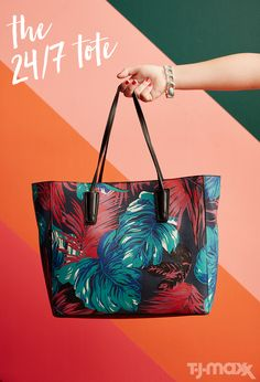 Part beach bag, part work tote, this colorful carryall works for every occasion on your summer calendar. Wear it to work with cropped trousers and a silk blouse, or carry it on weekends with boho sundresses and gladiator sandals.