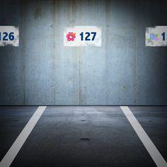無機質な駐車場が華やかに!? ここから素材をダウンロードできるよ♪ →http://petitpaint.niteandday.tokyo/
