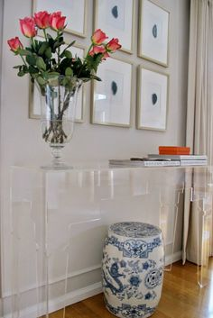 VT Interiors - Library of Inspirational Images: Lucite Console table