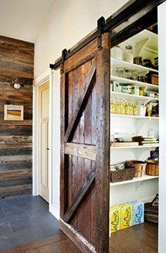 Sliding barn door into pantry