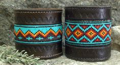 Destination/Cross and Indian Blanket in tooled leather..