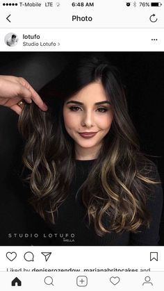 Cabelo Ombre Hair, Baliage Hair, Hair Color For Black Hair, Love Hair, Rides Front, Brunette Hair, Hair Highlights, Fall Hair, Hair Looks