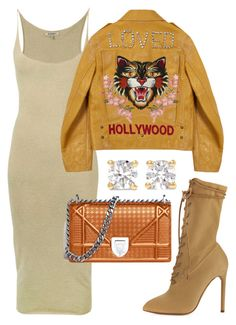 """""""Untitled #1896"""" by cheechchonghigh ❤ liked on Polyvore featuring Yeezy by Kanye West, Gucci and Anita Ko"""