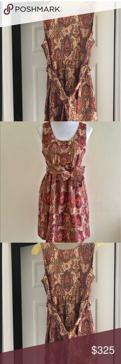 Marc by Marc jacobs Priscilla Dress Paisley dress with removable belt, zipper down left side. Never used, tags still attached Marc by Marc Jacobs Dresses Midi